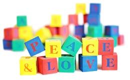 Frieden und Liebe Stockfotos