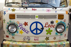 Frieden und Liebe Stockfotografie
