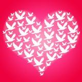 Frieden und Liebe Stockbild