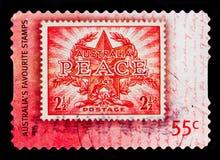 Frieden und Sieg, Lieblings-Stampsserie, circa 2009 Lizenzfreies Stockbild