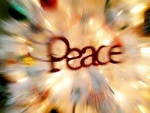 Frieden am Weihnachten Stockbilder