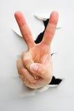Friedens- oder Nummer zweihandzeichen Lizenzfreie Stockfotos