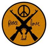Friedens- und Liebeslogosymbol Lizenzfreies Stockfoto