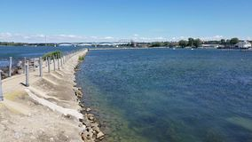 Friedensbrücke stock footage