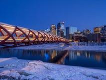 Friedensbrücke in Calgary Stockfotografie