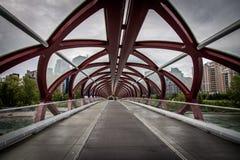 Friedensbrücke in Calgary, Alberta, Kanada Stockfotografie