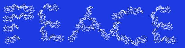 Friedensfahne Stockbild