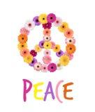 Friedensgänseblümchen lizenzfreie abbildung