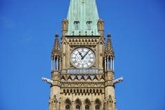 Friedenskontrollturm der Parlaments-Gebäude, Ottawa Stockfoto