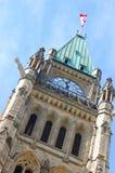 Friedenskontrollturm der Parlaments-Gebäude, Ottawa Lizenzfreies Stockfoto