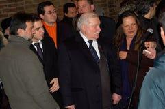 Friedensnobelpreis Lech Walesa in Parma Stockbild