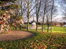 Friedenspagode Milton Keynes Winter Sun Stockfoto