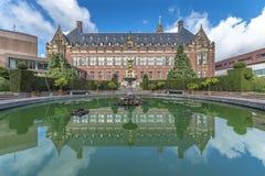 Friedenspalast-Hinterhofbrunnen Stockfotografie