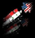 Friedenspuzzlespiel USA-der Irak Stockfotos