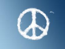 Friedenssymbol als Wolke Stockfoto
