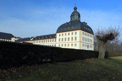 Friedensteinkasteel in Gotha stock afbeelding