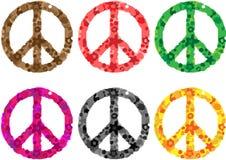 Friedenszeichen-Blumenleistung Lizenzfreies Stockfoto