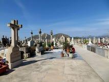Friedhof bei Alcudia Oldtown, Mallorca Lizenzfreie Stockfotos