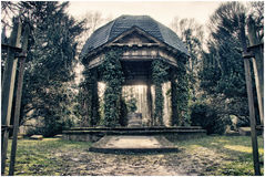 Friedhof 2. Entre of an old cemestry in a wood Royalty Free Stock Photos