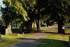 Friedhof in Geel, eine Kleinstadt in Flandern, Belgien stockbilder