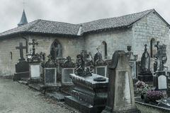 Friedhof im Herbst Lizenzfreie Stockfotos