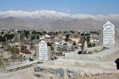 Friedhof in Kabul Lizenzfreies Stockfoto