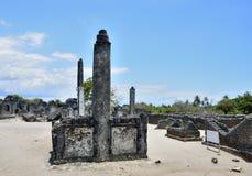 Friedhof, Kaole-Ruinen, Bagamoyo Stockbilder