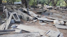 Friedhof von Kalash-Stamm lizenzfreies stockfoto
