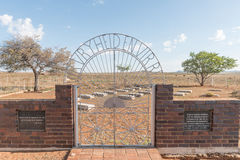 Friedhof von UNO-getauften Kindern in Springfontein Stockbilder