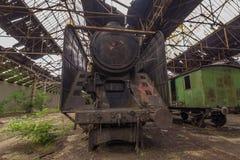 Friedhof von verlassenen Zügen Lizenzfreie Stockfotos