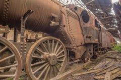 Friedhof von verlassenen Zügen Lizenzfreies Stockbild