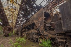 Friedhof von verlassenen Zügen Stockbilder