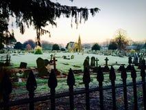 Friedhofs-Kirchhof stockbild