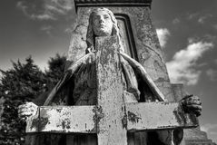 Friedhofstatue Stockfoto