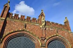 Friedland gate - neo-gothic fortress 19th century. Kaliningrad (Koenigsberg before 1946), Russia Stock Photography