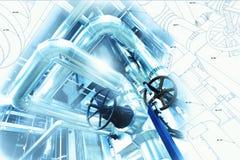 Friedliches Design gemischt mit Foto der industriellen Ausrüstung Lizenzfreie Stockfotos