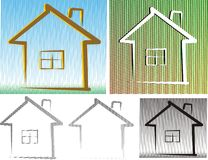 Friedly house - background and isolated Royalty Free Stock Photos