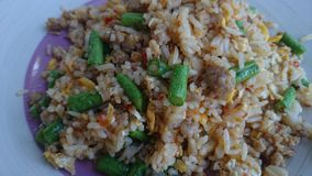 Friedrice-with-egg. Rice food lunch cowpea stock images