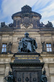 Friedrich August der Gerechte Dresden. A photo of a statue in the middle of Dresden. It shows & x22;Friedrich August the fair one& x22; sitting on his chair Royalty Free Stock Photography