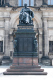 Friedrich August. Sculpture of Friedrich August in Zwinger Palace in Dresden. Germany Royalty Free Stock Photo