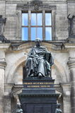 Friedrich August statue royalty free stock photo