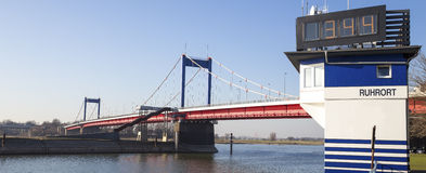 Friedrich ebert bridge duisburg germany. Friedrich ebert bridge in duisburg germany Stock Image