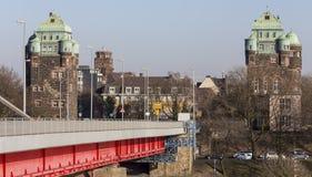 Friedrich ebert bridge duisburg germany Stock Photo