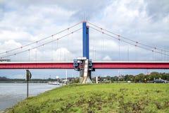 Friedrich ebert bridge duisburg germany Royalty Free Stock Images