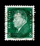 Friedrich Ebert 1871-1925, Presidenten van Duitsland serie, circa 1928 Stock Afbeelding