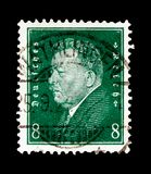 Friedrich Ebert 1871-1925, Presidents of Germany serie, circa 1928. MOSCOW, RUSSIA - OCTOBER 21, 2017: A stamp printed in Germany Deutsches Reich shows Friedrich Stock Image