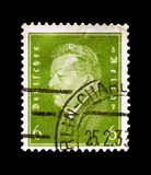 Friedrich Ebert 1871-1925, Presidents of Germany serie, circa 1932. MOSCOW, RUSSIA - OCTOBER 21, 2017: A stamp printed in Germany Deutsches Reich shows Friedrich Stock Photo