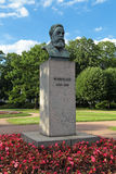 Friedrich Engels. A bronze sculpture by Friedrich Engels in St. Petersburg, Russia. The monument was established in 1932 Royalty Free Stock Photo