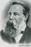 Friedrich Engels portrait from old German money. Fifty Mark Stock Photo