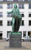 Friedrich Schiller monument i Mannheim Arkivbild